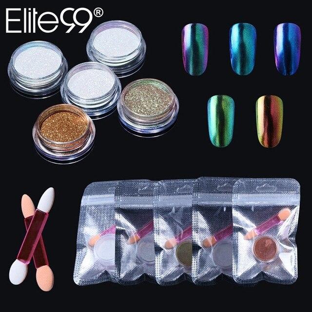 Elite99 Chameleon Spiegel Nagel Glitters Shinning Pulver Mit Pinsel Wunderschöne Nagel-kunst Chrom Pigment Maniküre Staub Dekorationen