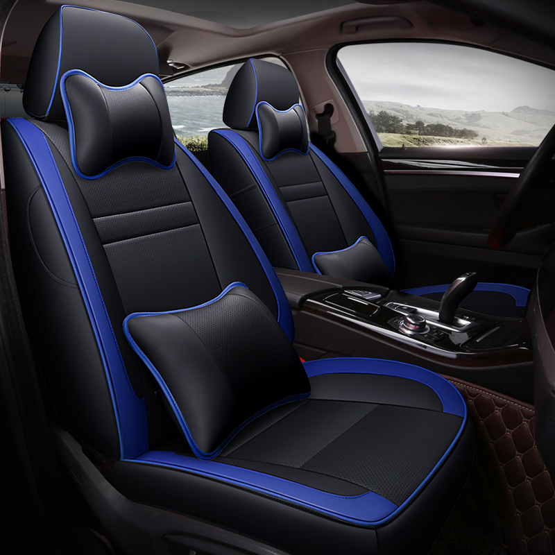 custom leather car seat covers For vw golf 4 5 VOLKSWAGEN polo 6r 9n passat b5 b6 b7 Tiguan accessories covers for vehicle seat