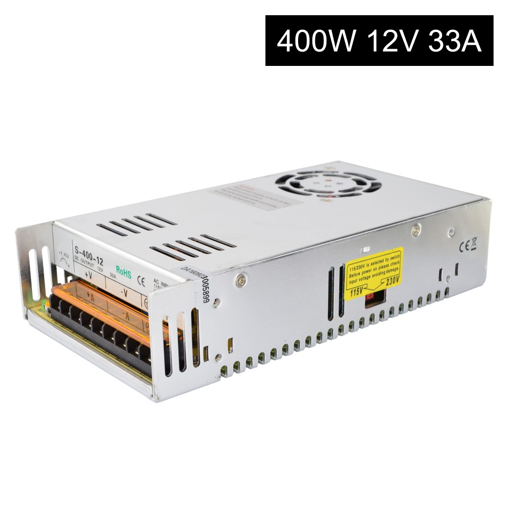DC12V 400W 33A Switching Power Supply 115V/230V to Stepper Motor 3D Printer/CNC irf540 irf540n 100v 33a to 220