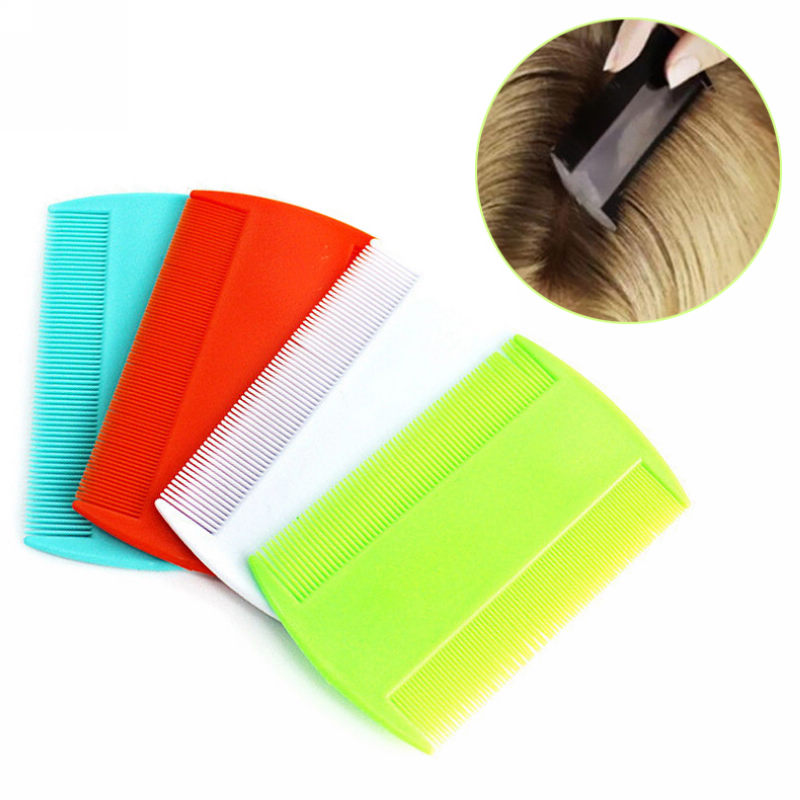 2pcs Double Sided Fine Tooth Head Lice Comb Plastic Flea Nit Hair Combs Suitable For Kids Pet