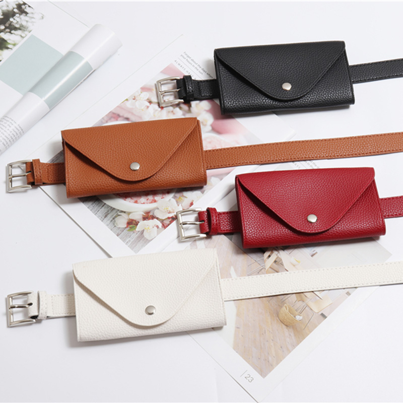 Fashion Fanny Pack for Travel Adjustable Phone Coin Bag Solid Retro Women Waist Bags PU Leather Detachable Luxury Belt Bags in Waist Packs from Luggage Bags