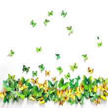 Rainbow Butterfly Wall Sticker Flying 3D Home Decor With Environment of Anger Fashion Brand Design Decal
