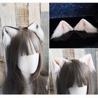 New Cat's Ear Hand Work Low Simulation Cat Ears Kitty Headwear Hairpin Lolita head hoop Lovely hair accessories