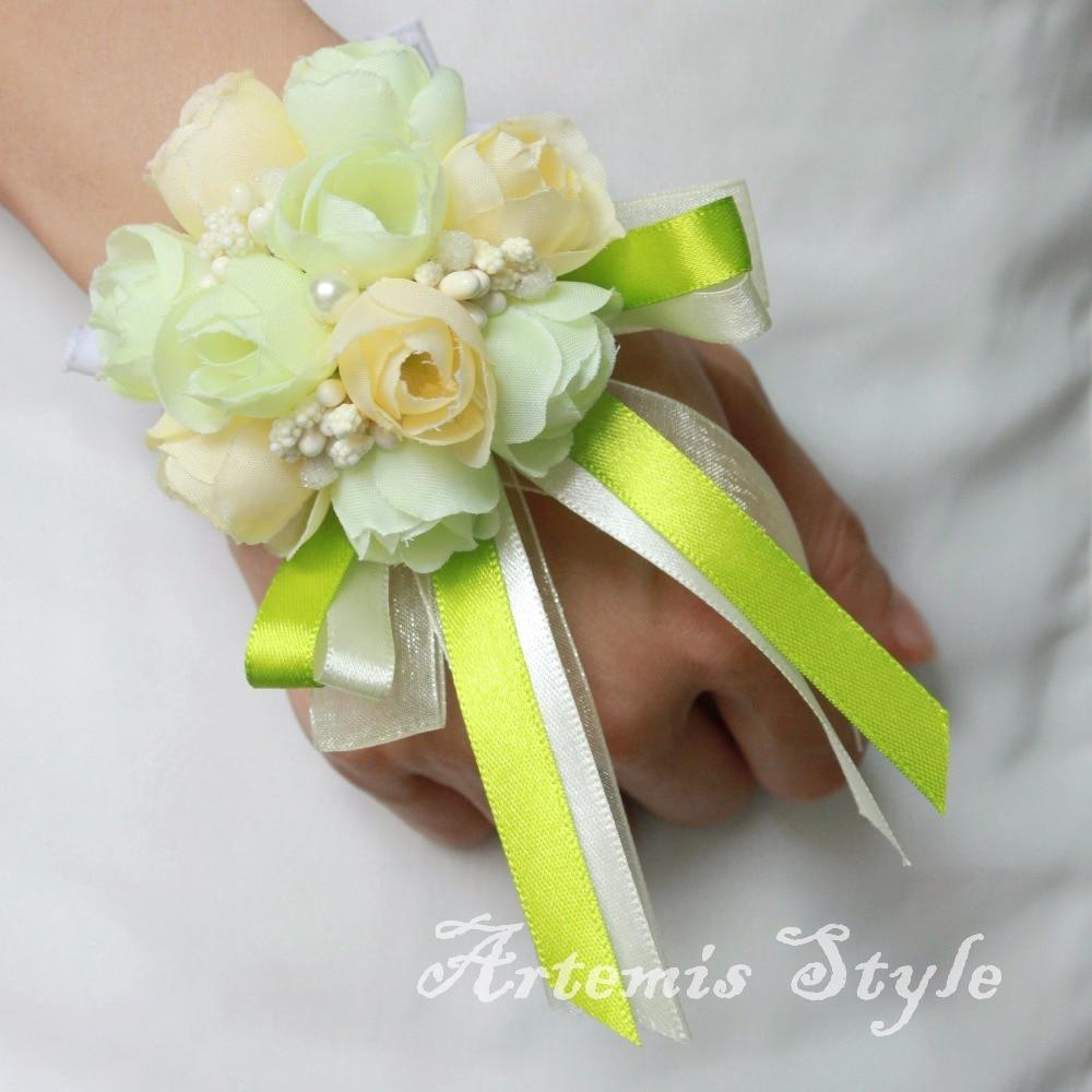 Tiny Rose Buds Wrist Corsage Wedding Artificial Flowers Decoration