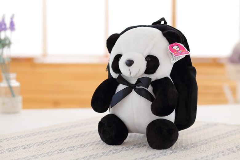 kawaii cute stuffed ცხოველები panda schoolbag - პლუშები სათამაშოები - ფოტო 3