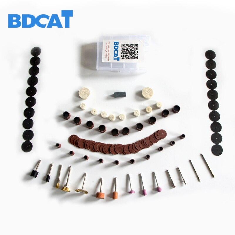 BDCAT 106 Pieces/set Dremel Rotary Tool Accessory Set Fits mini Dremel Drill Grinding Polishing Dremel Tools Accessories