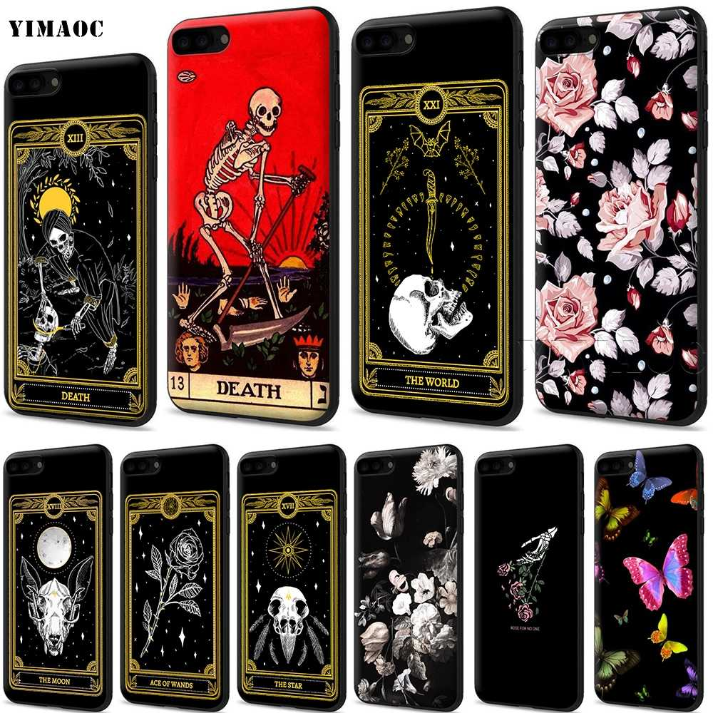 YIMAOC Death Tarot Silicone Soft Case for iPhone 11 Pro XS Max XR X 8 7 6 6S Plus 5 5S SE