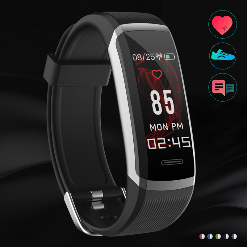 New Smart Bracelet 24H-continuous Heart Rate WhatsApp Remind Bluetooth 4.1 smart band LCD Color screen For IOS Android PK xiomi