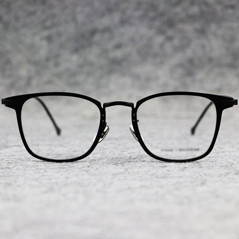 2018 NEW100 % Pur Titane Jante Pleine De Luxe Marque Lunettes Hommes Optique Spectacle Cadre Prescription Lunettes de Oculos De Grau