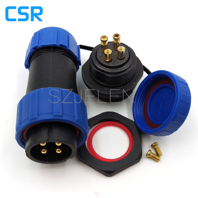 SP2110, No need welding,  3 pin waterproof connector , 3 pin plug socket, LED waterproof power cable connector, IP68