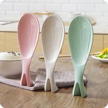 1 шт., вертикальная рисовая ложка в форме рыбы, бытовая ложка, рисоварка, антипригарная рисовая пластиковая ложка, домашние гаджеты