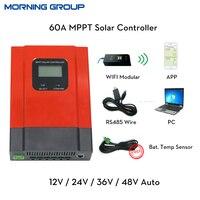 ESmart3 60A MPPT Solar Şarj Regülatörü 12 V 24 V 36 V 48 V otomatik LCD Ekran RS485 haberleşme PC yazılımı ile WIFI cep APP