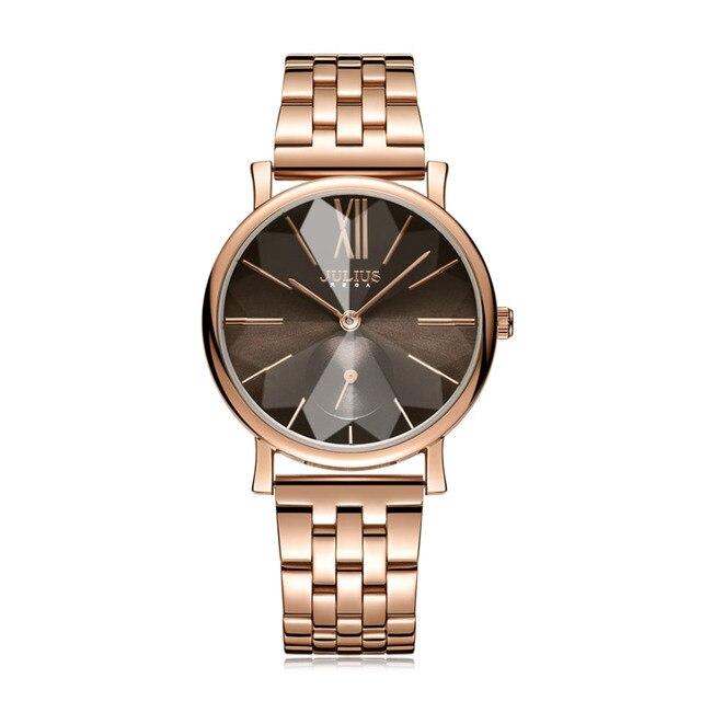 Julius Simple Men Women Watches Stainless Steel Bracelet Watch Fashion Big Dial Ladies Qaurtz Business Watch Clock Reloj Mujer | Fotoflaco.net