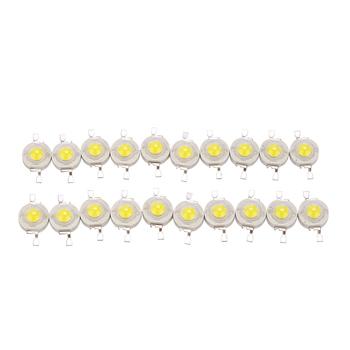 3W wysoka dioda LED dużej mocy czipy epistar LED koralik czysty naturalny ciepły biały 10 sztuk partia do wymiany lampy ściennej jeśli można lutować tanie i dobre opinie Piłka 3w high power led bead 3 0-3 4 V ROHS 300mA LEDSONLINE