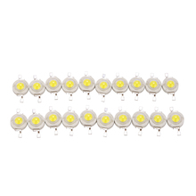High Power LED Epistar Chip 1W Bead Pure / Natural Warm White 20pcs/lot
