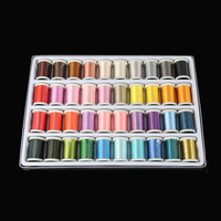 Box of 40 Colors Reels Embroidery Machine Sewing Thread Knitting Yarn Spools Craft Embroidery Thread Floss Kit DIY Sewing Tools