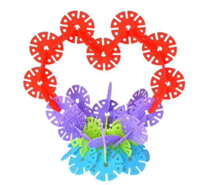 800 pz/lotto Multicolor Neve Fiocco di Neve Building Blocks Bambini Del Bambino Kid Giocattolo Educativo FAI DA TE Giocattoli Montessori GYH