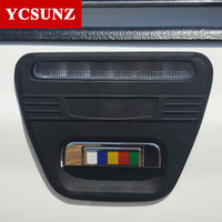 Car Accessories ABS Black Color Rear Handle Insert Cover Trim For Toyota Hilux Vigo 2012 2014