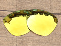 Polycarbonate-24K Golden Mirror Replacement Lenses For Frogskins Sunglasses Frame 100% UVA & UVB Protection