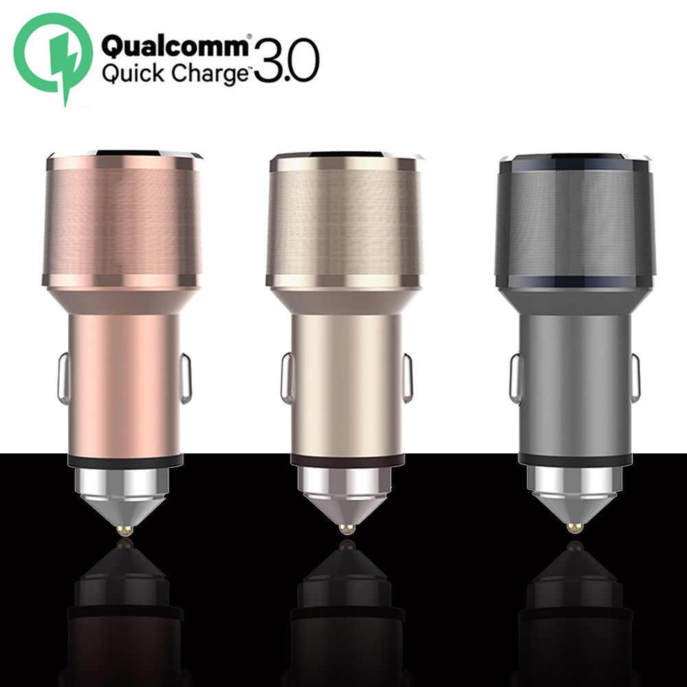 UVR автомобильный Зарядное устройство quick charge 3,0 Dual USB 5 V/3.4A (QC3.0, 2.4A) автомобиль-Зарядное устройство адаптер для iphone Интеллектуальный прибор с Android Быстрая зарядка