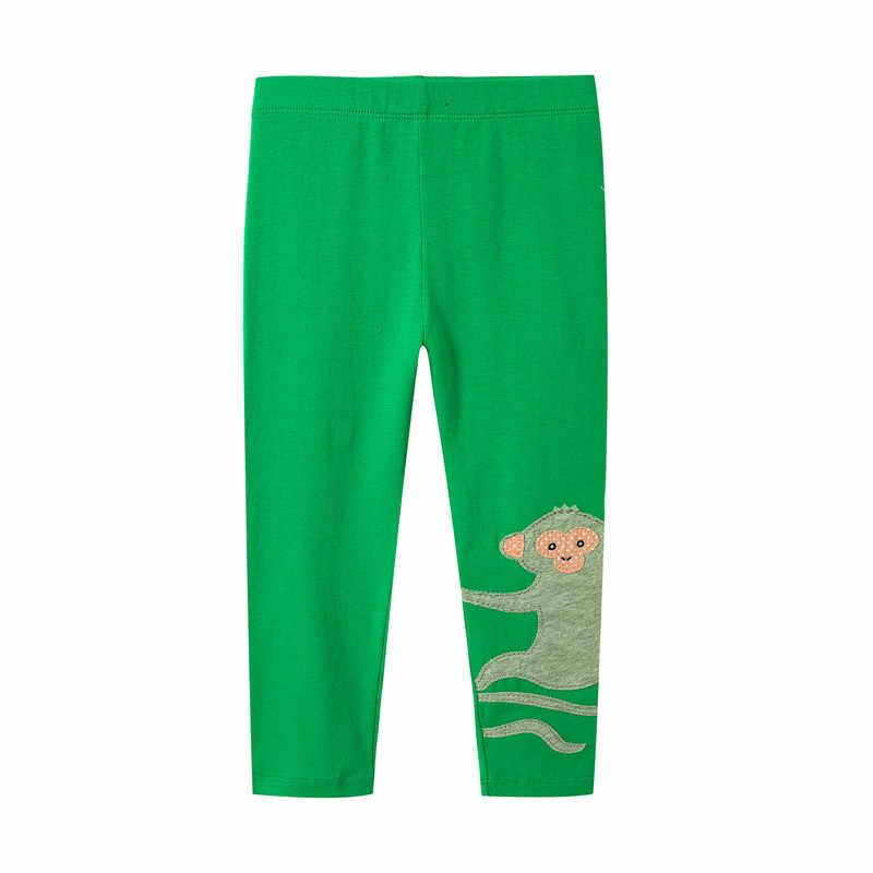 Nhảy mét mới được thiết kế bé gái phim hoạt hình xà cạp quần với đính một dễ thương khỉ trẻ em mới phong cách quần bó hot 2018