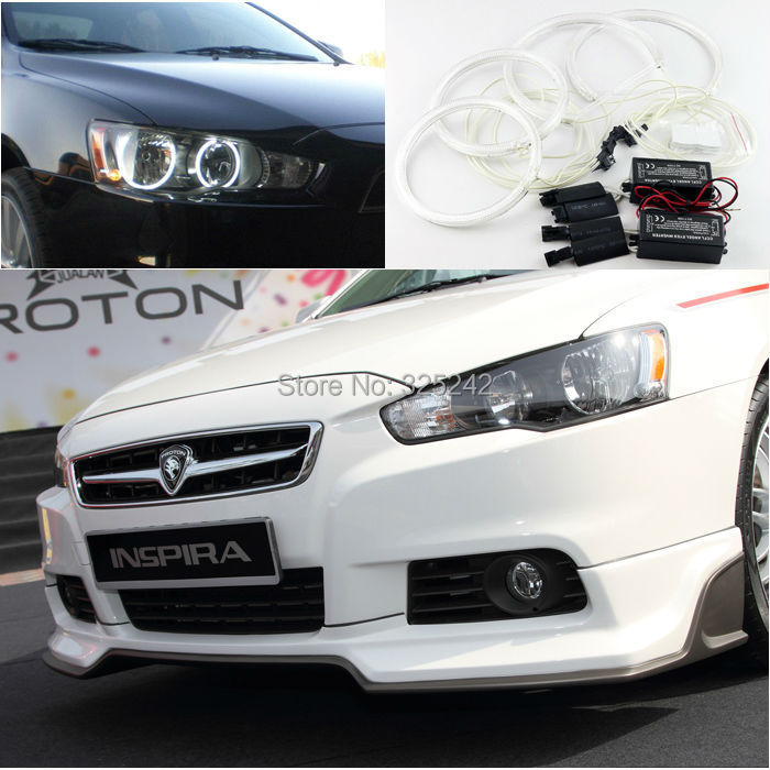 For Proton Inspira Non projector Excellent Ultrabright illumination CCFL Angel Eyes kit Halo Ring angel eyes kit заточной станок для свёрл