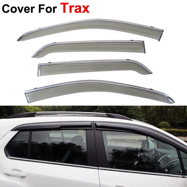 4pcs/lot Windows Visors For Chevrolet Trax 2015 2016 Sun Rain Shield Stickers Covers Car Styling Awnings Shelters