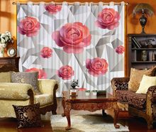 Three-dimensional flower 3d curtains window curtains long curtain for the living room bedroom(China)