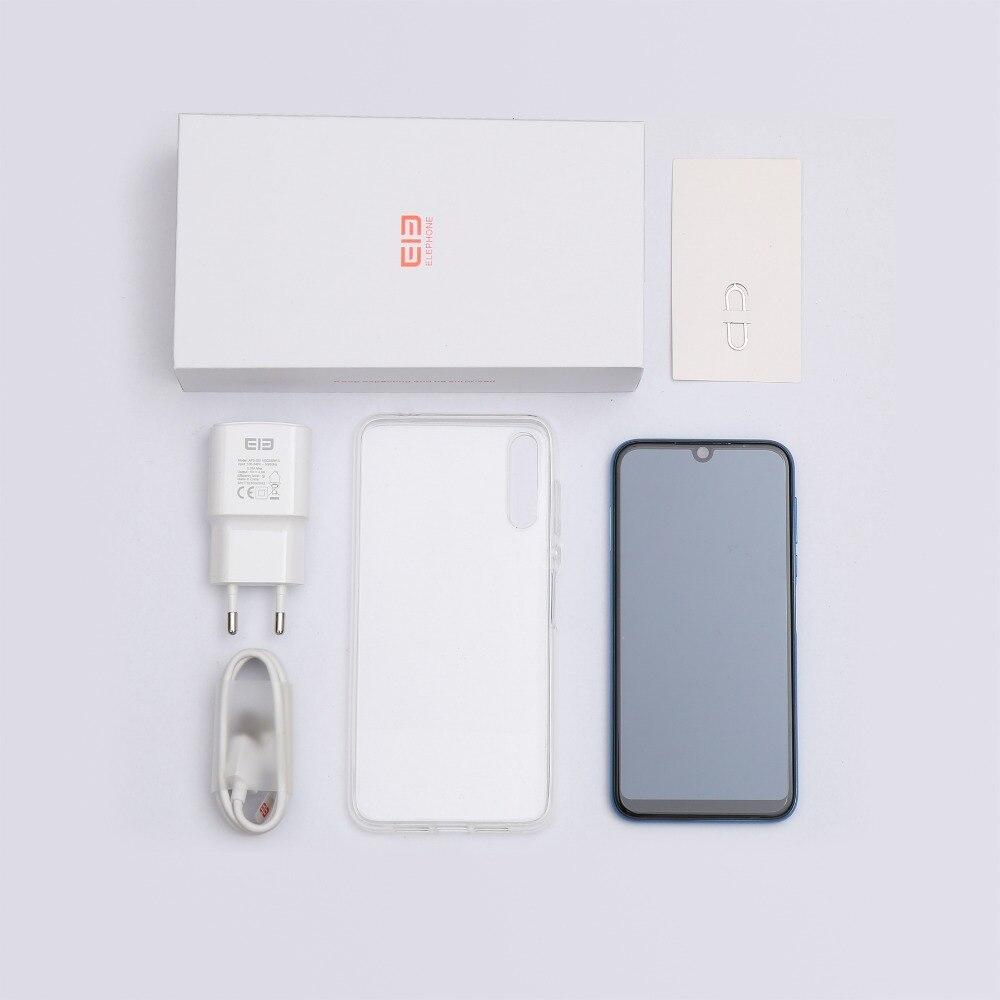 Elephone A6 MAX 6,53 ''Android 9,0 4 Гб 64 Гб MT6762V 4G смартфон 4 ядра 20MP отпечатков пальцев 5 V/2A Тип C мобильных сотовых телефонов - 6