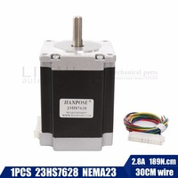 Free Shipping 1PCS Nema23 Stepper Motor 23HS8430 23HS7628 4 Lead 270oz In 76mm 2 8A Bipolar