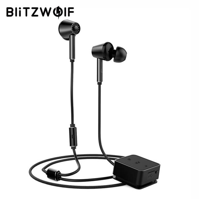 BlitzWolf ANC bezprzewodowe słuchawki bluetooth aktywne słuchawki z redukcją szumów system Hi-Fi słuchawki stereo w zestaw słuchawkowy mikrofon do telefonu muzyka Audio