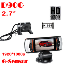 New DVR Camera Full HD 1080P 2.7″ lcd screen DVR Camera 170 degree car camera recorder panoramic tachograph F90 car dvr detector