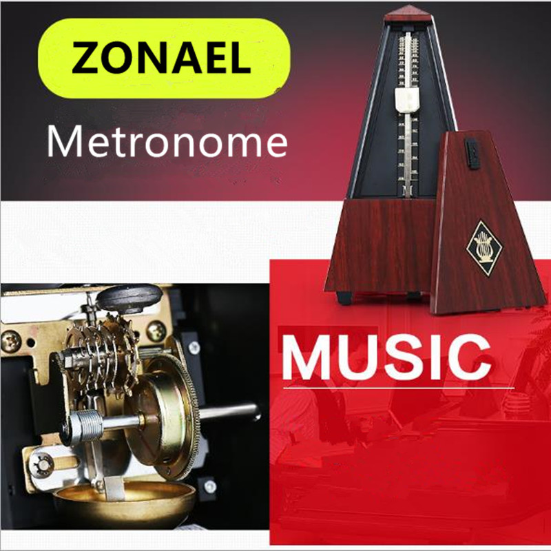 Guitar Metronome Online Mechanical Pendulum Mecanico Wood color for Guitar Piano Violin Musical Instrument Metronome cherub wsm 330 mechanical metronome for guitar violin piano zither