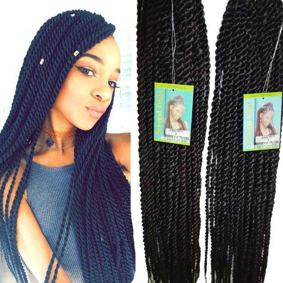 Senegalese Twist Small Freetress Bulk Crochet Braiding Hair Extension