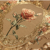 New luxury gold 3D Rose wall paper 3D relief murals background wallpaper Damascus floral wallpaper for Living room bedroom TV