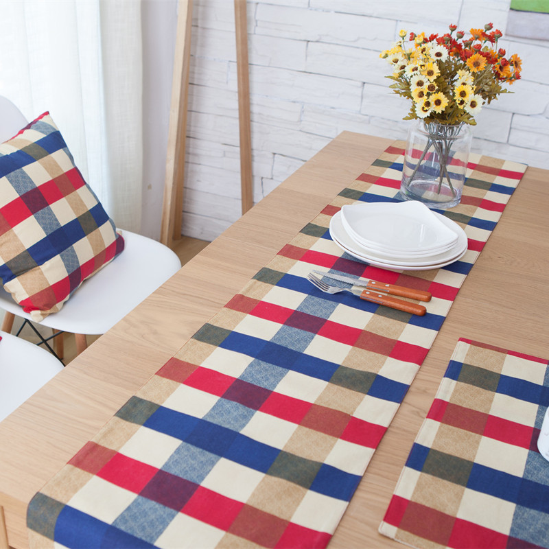 Incroyable Free Shipping Red And Blue Lattice Table Runner Decoracion Mesa Hogar  Chemin De Table Tafelloper For Wedding Lopers Voor Tafel In Table Runners  From Home ...