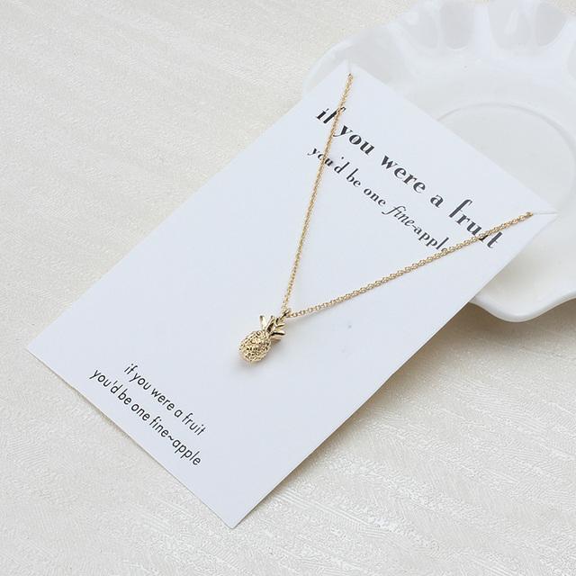 Minimalist Pineapple Necklace