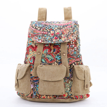 ZIYANYU Luggage hot trend canvas embroidery large capacity bag for women backpacs casual travel Hit color backpack school bags