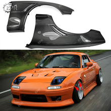 For Mazda MX5 NA6 NA8 Carbon Fiber JDM Front Wider Vented Fender +20mm Body Kit Tuning Part Trim For MX5 Carbon Front Fender e3x na6 e3x da6 sensor