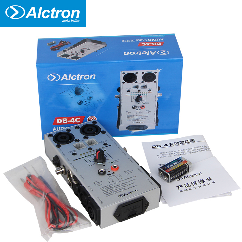 Alctron DB-4C Professional Cable Testers Audio network Cable Detector Tester test tool pro skit taiwan bao mt 7062 hdmi cable measuring tester test