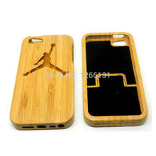 Hot sell Top New Real Carving Jordan Wood Bamboo Shell True Original Nature Wooden Hard Coque Cover for Apple Iphone 5 5G 5S SE