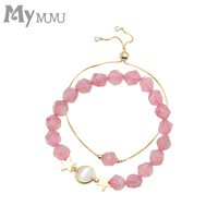 2019 Hot New Fashion pink Beading Bracelet For Women Jewelry Gift