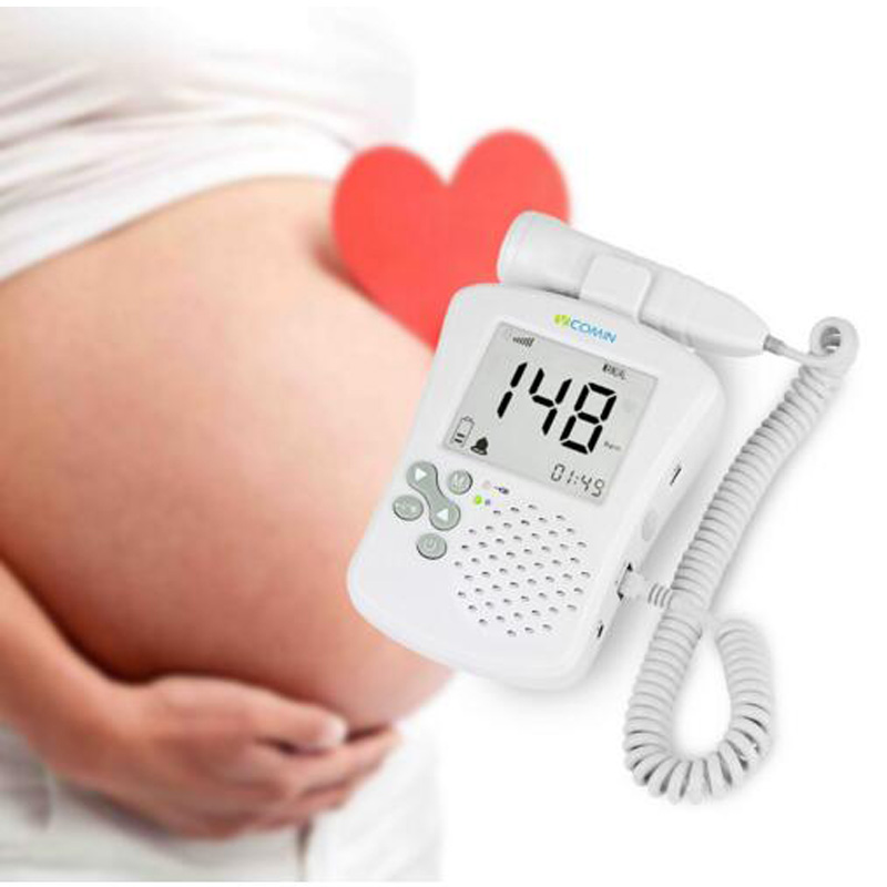 Professional Prenatal Fetal Doppler Detector Home Use Baby Heart Rate Monitor FHR Back Light Ultrasonic Diagnostic Device doppler foetal 100b fetal heart rate detection device easy to use for home fhr portable ultrasonic diagnostic baby lcd screen