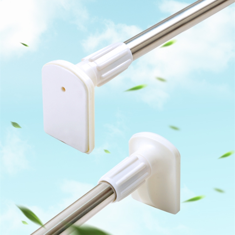 Bathroom Shower Curtain Poles Telescopic Pole Stainless Steel Toilet Door Curtain Rod ...