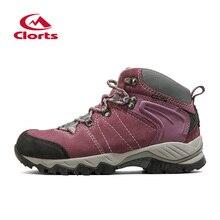 2016 clorts senderismo botas para las mujeres hkm-822e/f rastro de ante de la vaca a prueba de agua al aire libre deporte zapatos mujer zapatos para caminar