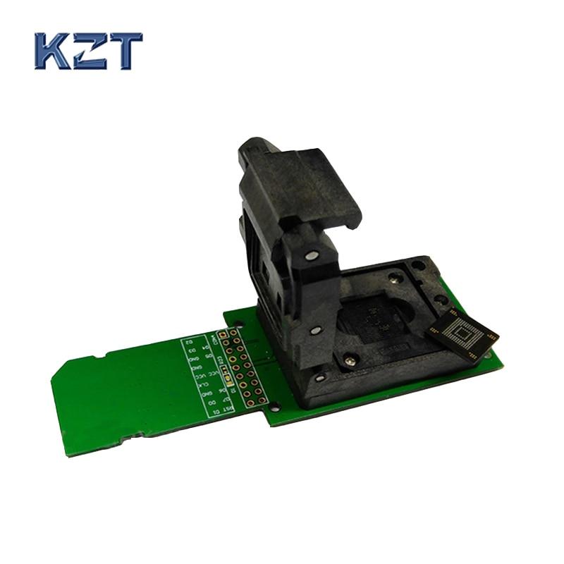 eMMC programmer socket eMMC153 eMMC169 Reader Clamshell Structure BGA153 BGA169 Chip socket data recovery date backup repair-in Connectors from Lights & Lighting    1
