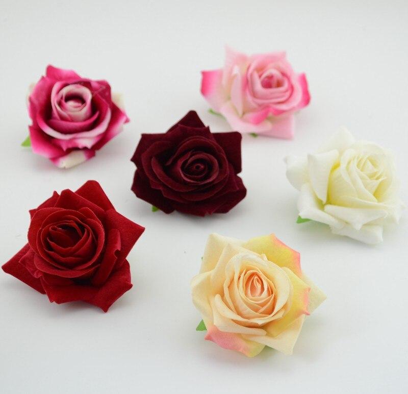 5 unids barato Regalo de La Boda decoración de flores de seda flores artificiale
