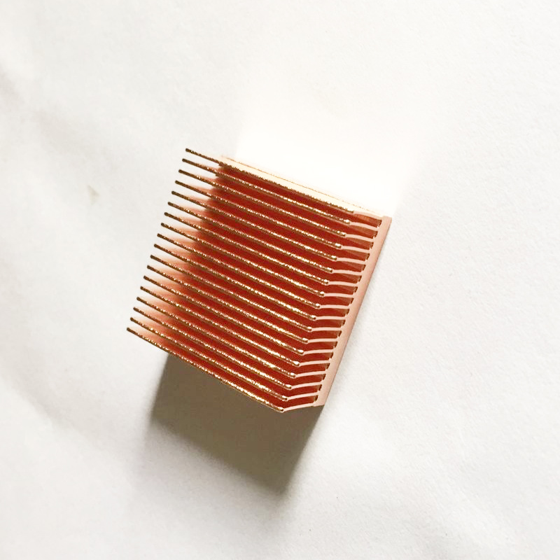 Free Ship 2PCS Custom Copper Heatsink Small Instrument Electronic Components low-power Chips Radiator 20*20*11mm Copper Radiator free ship 5pcs copper heatpipe 260 10 4mm diy copper tube radiator sintered powder wick thermal solution copper pipe heatsink