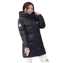 2016 Новое Прибытие женские Зимние Вниз Теплое Пальто С Длинным рукавом С Капюшоном Куртки Slim Стиль Повседневная Куртка Пальто женский LJ4299