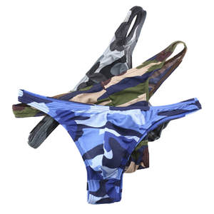 Men's Underwear Briefs Low-Waist Camouflage Print Sexy Breathable New Fashion Casual